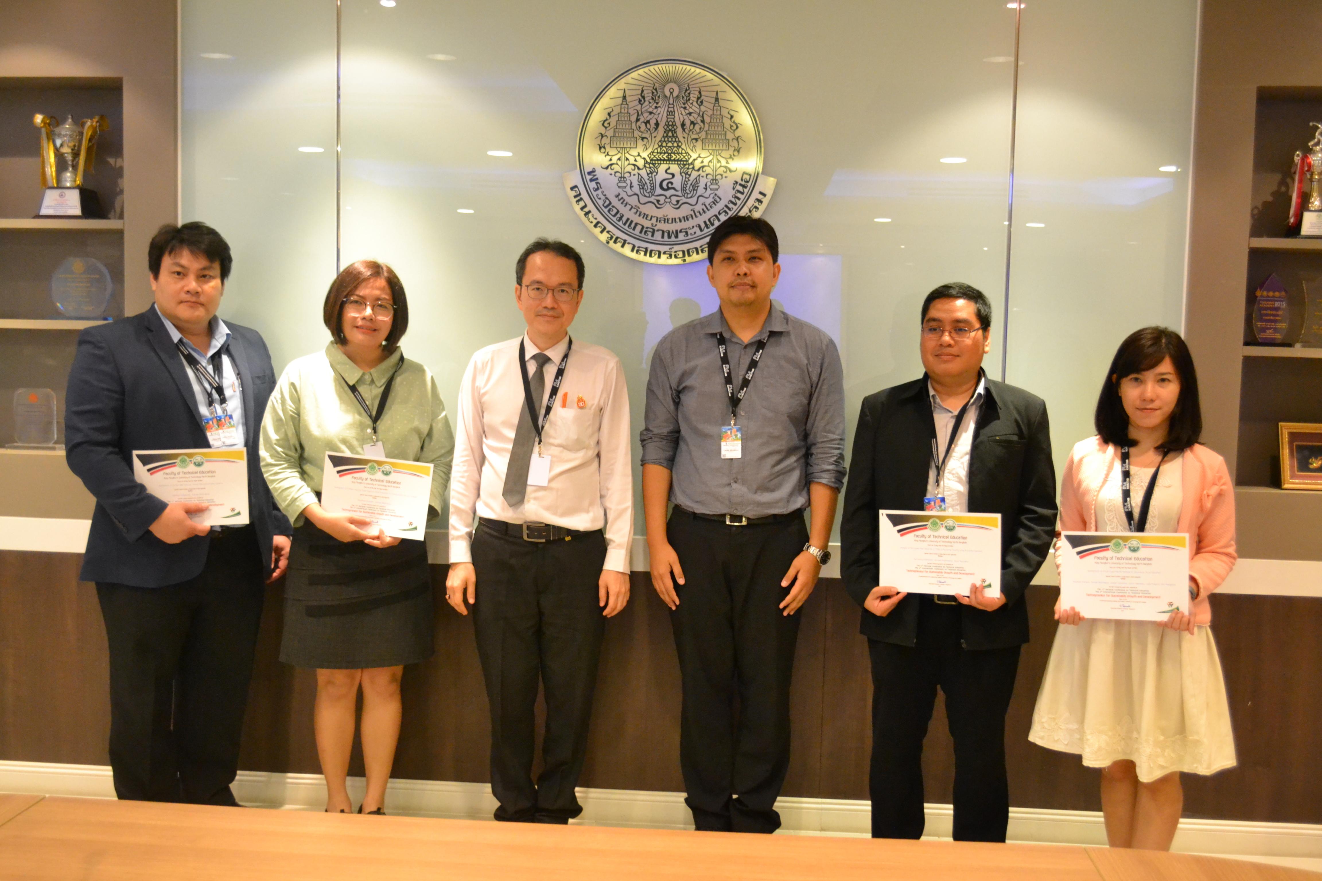 นำเสนอผลงานทางวิชาการในงาน The 6th International Conference on Technical Education